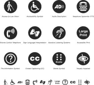 Disability Access Icons