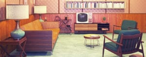 1950's style living room