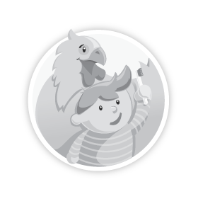 Grey-scale version of the 404 Dental logo
