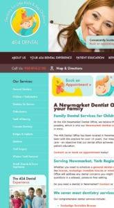 404 Dental website screenshot