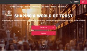 Bureau Veritas website screenshot