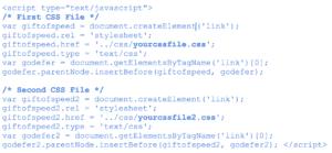 Sample of CSS script