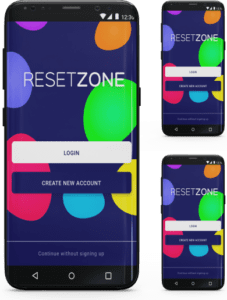 Reset Zone app design