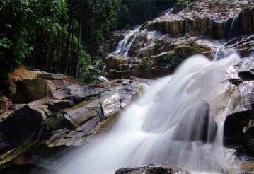 A rocky waterfall