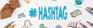 "Decorative illustration of ""#Hashtag"""