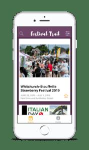 York Festival Trail app design