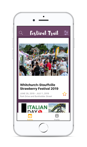 York Festival Trail app design