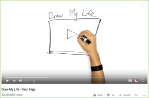 Screenshot of a youtube video where a man draws on a whiteboard.