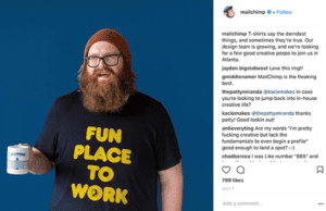 Screenshot of a Mail Chimp instagram post