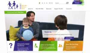 Etobicoke Children's Centre website screenshot