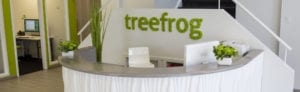 Treefrog's reception desk
