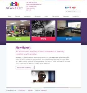 NewMakeIt website screenshot