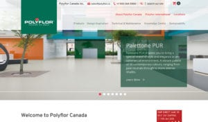 Polyflor website screenshot