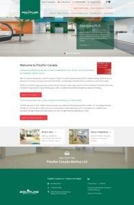 Polyflor website screenshot