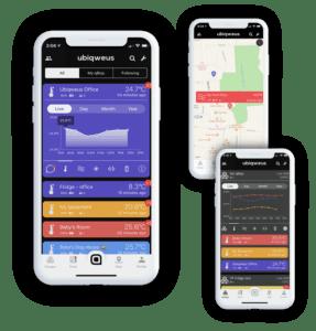 Images of the Qbiq app