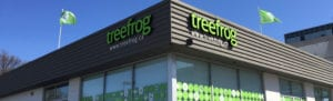 Exterior image of the Treefrog office building