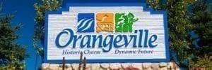 Orangeville town sign