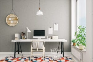 Scandinavian Style Modern Home Office Interior